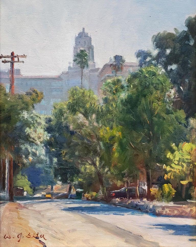 Pasadena Atmosphere - Realist Painting by W. Jason Situ