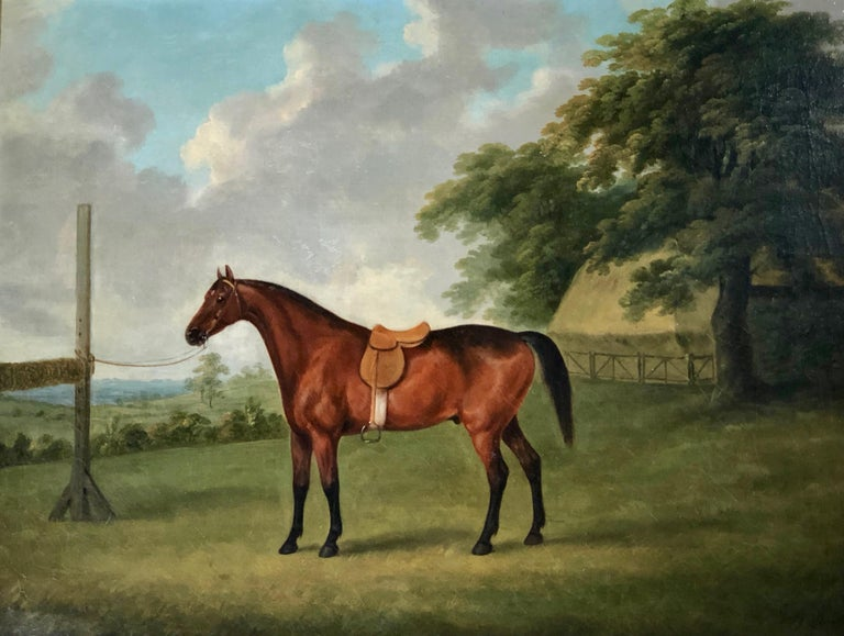 A Bay Horse in a Landscape by John  Nost Sartorius. 2