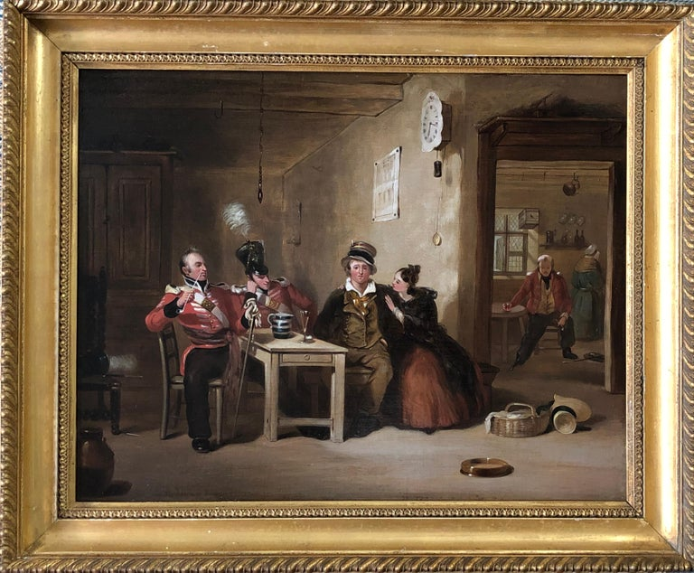 The Recruit /Taking the Kings Shilling - Painting by Henry Liverseege