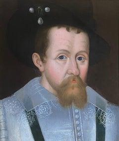 17th Century Royal Portrait of James I of  England & James VI of Scotland