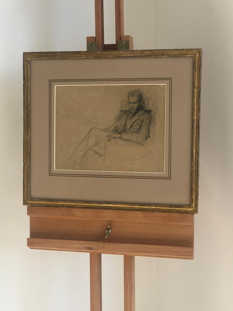 Early 20th Century Drawing a Study of Edward Nettleship by Augustus John RA. For Sale 5