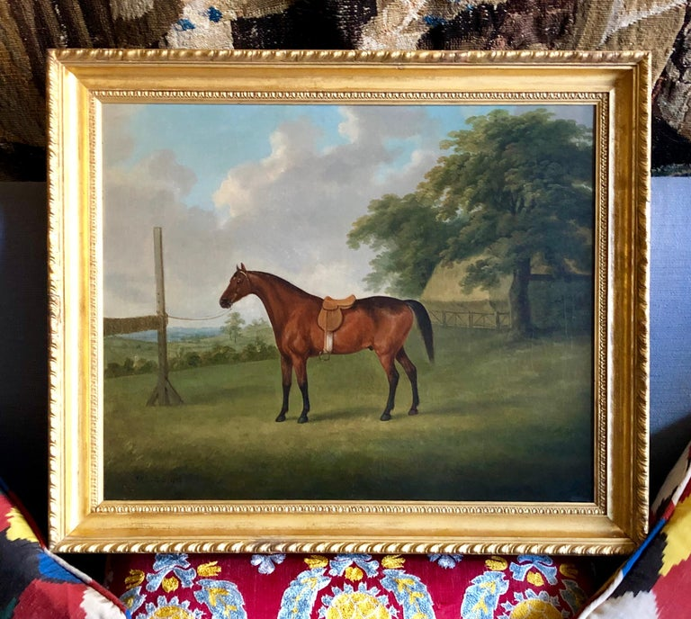 A Bay Horse in a Landscape by John  Nost Sartorius. 6