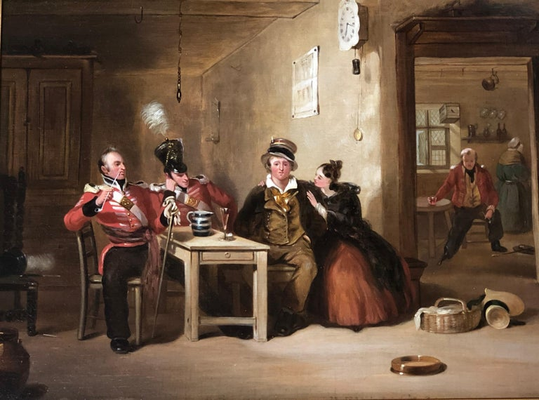 Henry Liverseege Interior Painting - The Recruit /Taking the Kings Shilling
