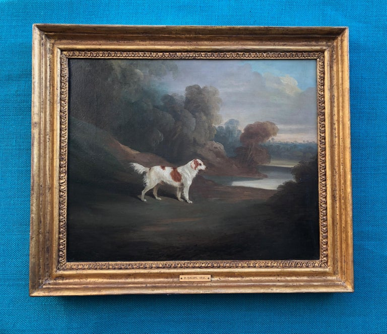 A SPANIEL BY WATER - BY DAVID DALBY (1794-1836) SIGNED AND DATED 1831.                                                                                                                                 Period Portraits are pleased to present this
