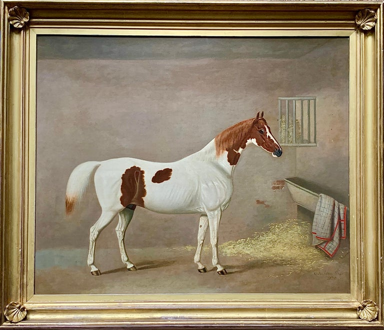 A Skewbald Pony in a Stable by G. Jackson For Sale 9