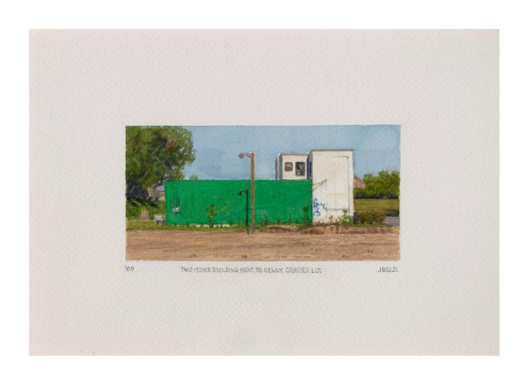 Two Tone Building Next to Newly Graded Lot - Art by Julie Bozzi