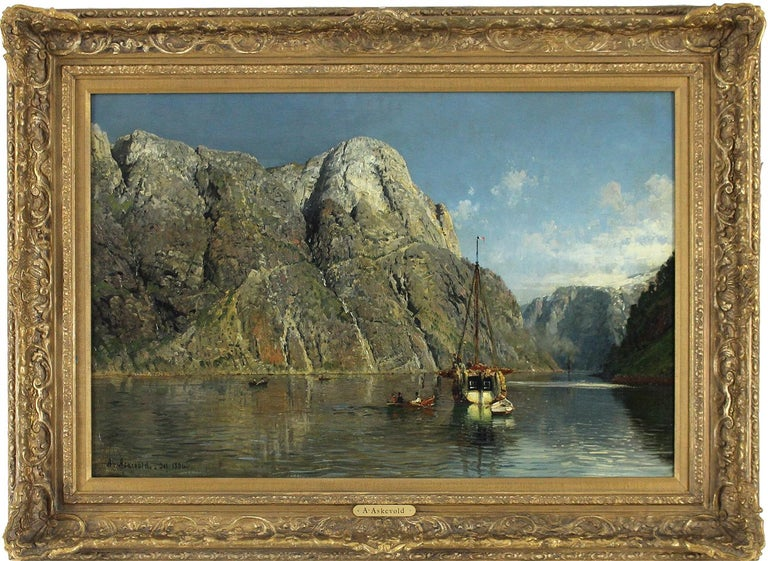 Svams-Nosc in Navo Fjord - Painting by Anders Askevold