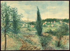 Untitled - An Italianate landscape with several houses [...].