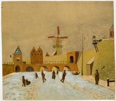 Tolsteegpoort in 1842.