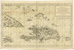 Sea chart of Santa Domingo and its surroundings - Engraving - 18th century