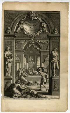 The Ambonian Cabinet of Curiosities by Rumphius - Engraving - 18th century