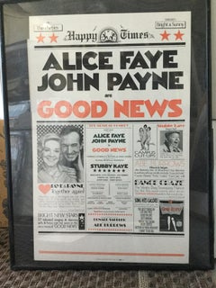 GOOD NEWS BROADWAY POSTER SIGNED HILARY KNIGHT