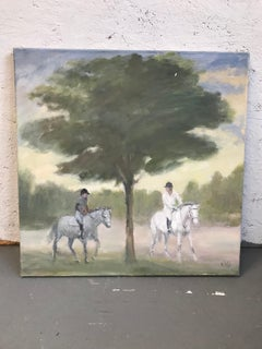 horses in the distance