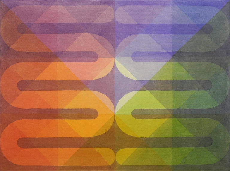 Field Kallop Abstract Painting - Rainbow Serpents