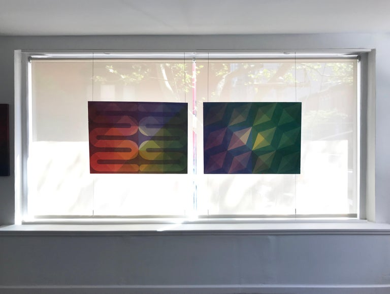 Rainbow Serpents - Abstract Geometric Painting by Field Kallop