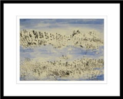 """Group of fish in Water, Watercolor on paper, Blue, Grey by K.C. Pyne """"In Stock"""""""
