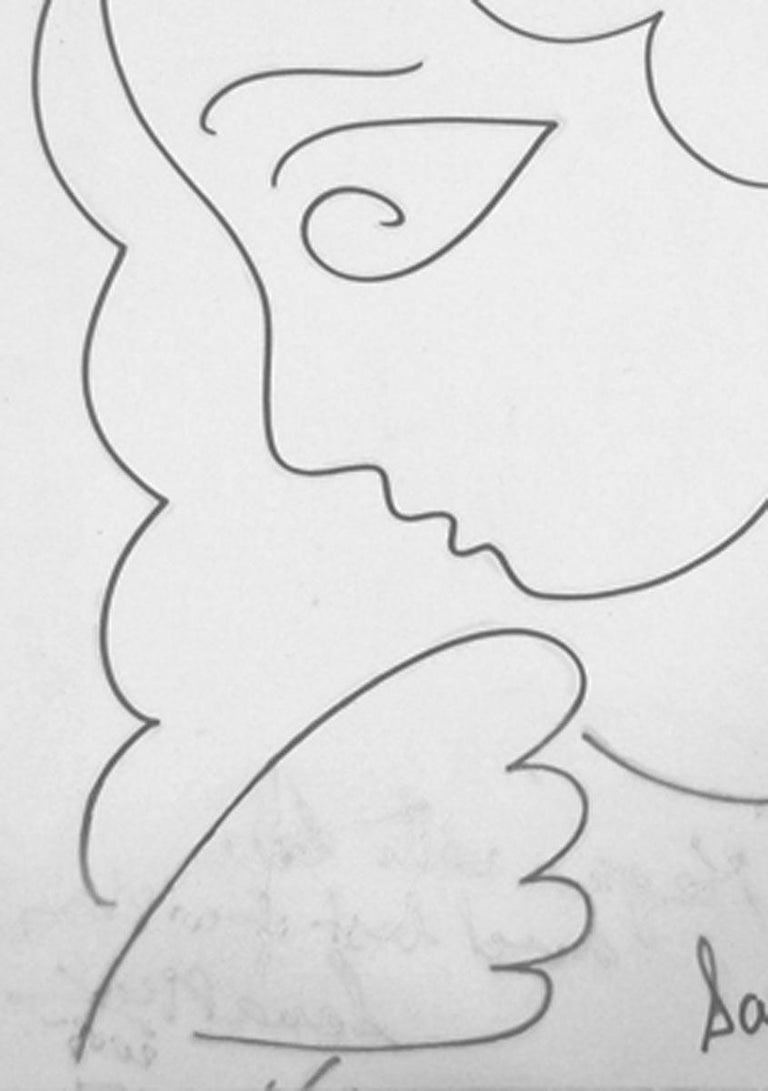 Women, Drawing, Ink on paper, Black & White by Modern Indian Artist