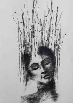 Being one with Nature III, Environment Lover, Charcoal, Black & White 'In Stock'