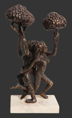 "The Tree of Life, Bronze Sculpture, Brown by Indian Artist ""In Stock"""