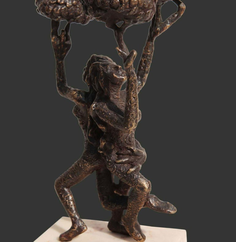 The Tree of Life, Bronze Sculpture, Brown by Indian Artist
