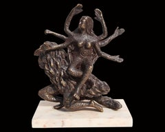 "Hindu Goddess Vaishnavi, Mythology, Bronze Sculpture, Brown color ""In Stock"""