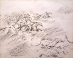 """Riders, Pencil on paper, Black & White By Indian Master Paritosh Sen """"In Stock"""""""