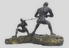 "Tug of War, Aluminium & Brass by Contemporary Indian Artist ""In Stock"""