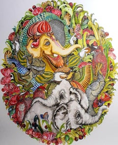 "Untitled, Pen & Ink & Watercolor on Paper by Contemporary Artist ""In Stock"""