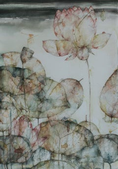 """Untitled, Watercolour on Paper, Black, Brown by Contemporary Artist """"In Stock"""""""