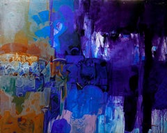 """Untitled, Acrylic on Canvas, Blue colours by Contemporary Artist """"In Stock"""""""
