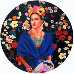 "Frida Kahlo XIV, Acrylic on Canvas by Contemporary Artist ""In Stock"""