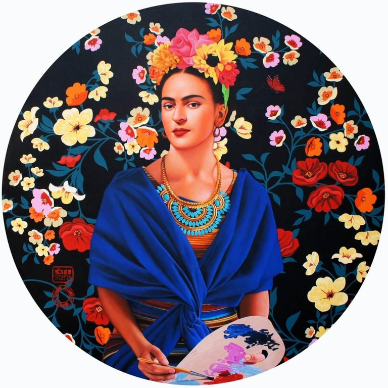 Frida Kahlo XIV, Acrylic on Canvas by Contemporary Artist