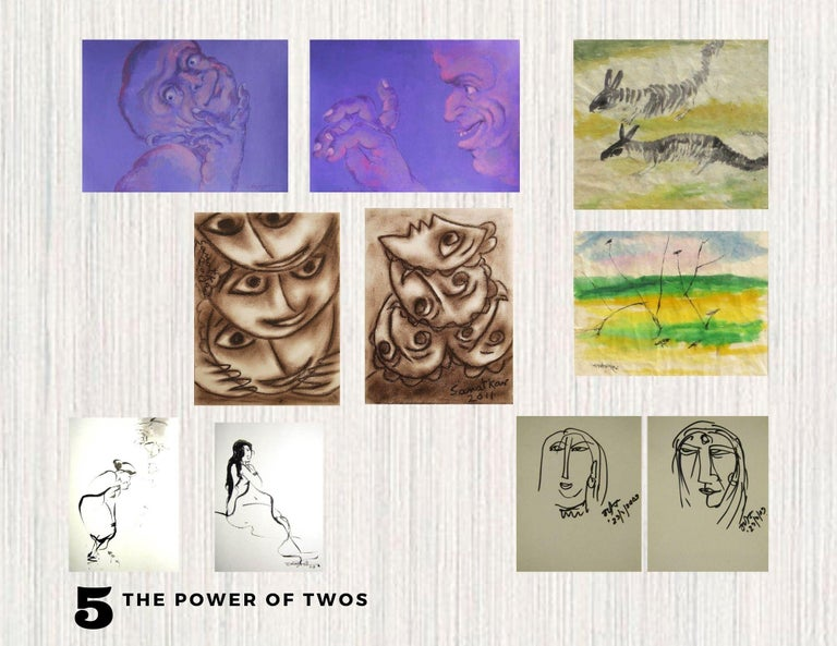 Sanat Kar Figurative Art -  Cluster - 5