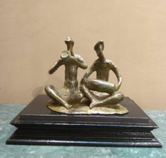 """Musician-2, Bronze Sculpture by Contemporary Indian Artist """"In Stock"""""""