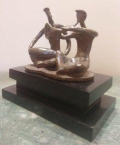 """Musician, Bronze Sculpture by Contemporary Indian Artist """"In Stock"""""""