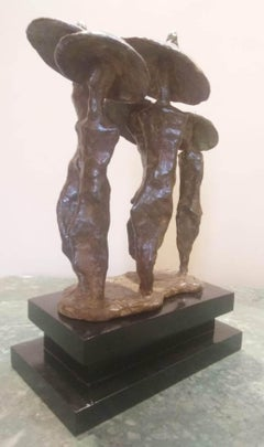 """Rain, Bronze Sculpture by Contemporary Indian Artist """"In Stock"""""""