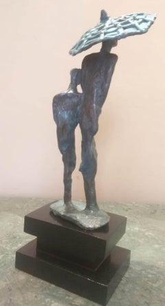 """Rain-2, Bronze Sculpture by Contemporary Indian Artist """"In Stock"""""""