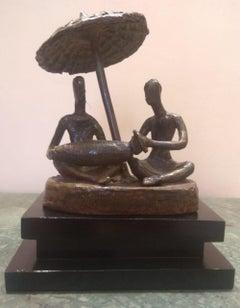 "Kirtan, Bronze Sculpture by Contemporary Indian Artist ""In Stock"""