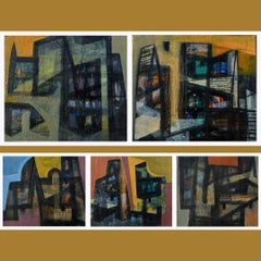 Spaces in Transition, Set of 5, by Contemporary Artist-In Stock