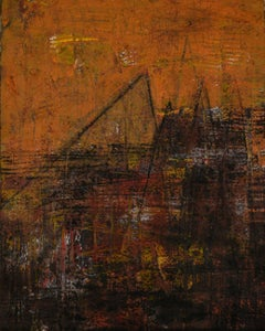 Melody of Spaces, Acrylic & Charcoal on Archival Paper by Contemporary-In Stock