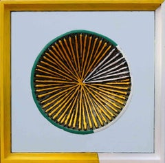"""Untitled-141, Acrylic on Canvas, Glass, Wood by Contemporary Artist """"In Stock"""""""
