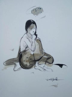 """Untitled, Watercolour on Paper by Contemporary Artist """"In Stock"""""""