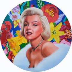 """The Iconic Marilyn Monroe, Acrylic on Canvas by Contemporary Artist """"In Stock"""""""