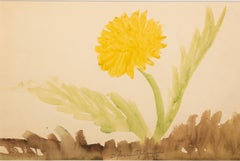 """""""Yellow Flower,"""" Original Watercolor stamped signature by Sylvia Spicuzza"""