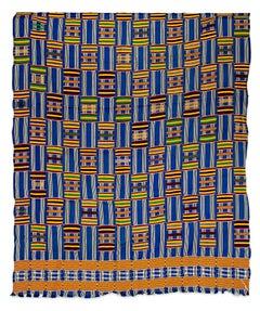 """Fabric - Ashanti Tribal Cloth,"" Silk Weaving from Africa circa 1930"