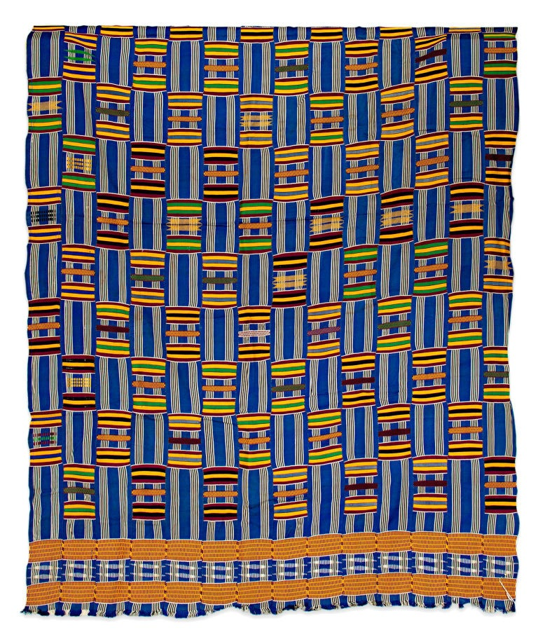 """Fabric - Ashanti Tribal Cloth,"" Silk Weaving from Africa circa 1930 1"