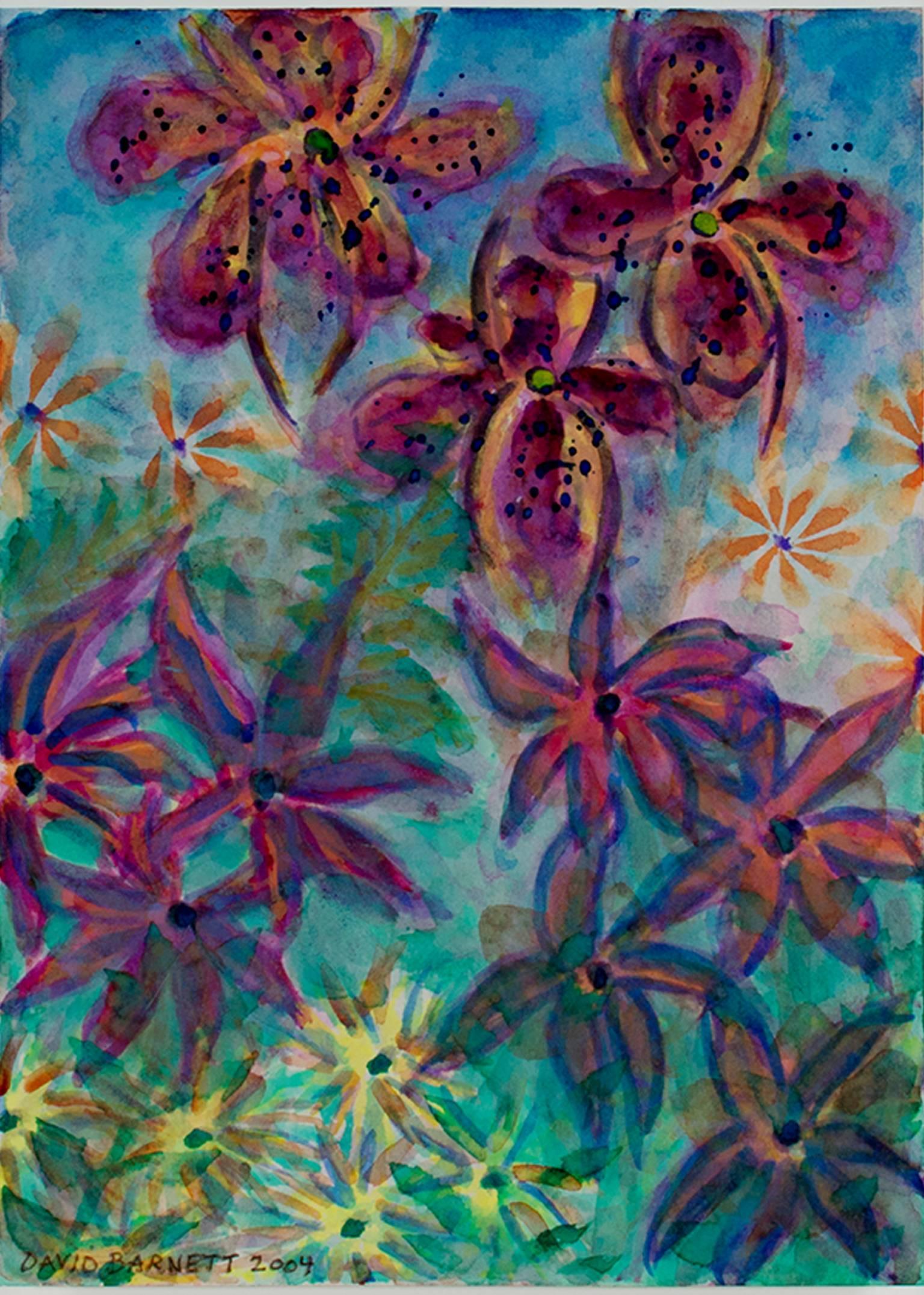 """""""Tropical Luminous Flowers-Homage to Martin Johnson Heade, Luminist,"""" D. Barnett"""