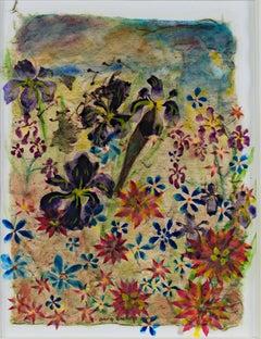 """Iris & Hybrids,"" mixed media ink and watercolor by David Barnett"