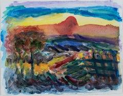 """""""Spring Green Variation II,"""" mixed media watercolor by David Barnett"""