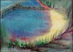 """Sunlit Shore,"" original watercolor by David Barnett"
